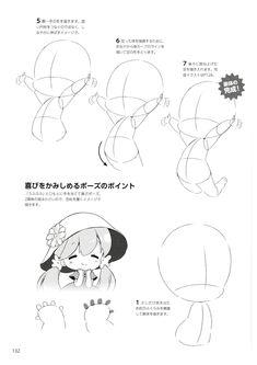 How to draw chibis-132 Chibi Tutorial, Manga Tutorial, Sketches Tutorial, Chibi Girl Drawings, Anime Drawings Sketches, Kawaii Drawings, Anime Drawing Books, Chibi Body, Chibi Sketch