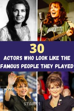 Hollywood magic can turn everyday people into anything. In this case, it turned 30 actors into the exact famous person that they were told to portray in a film. The likeliness of each actor is uncanny, and obvious as to why they were chosen for a certain role.