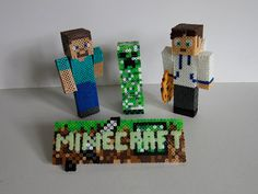 Minecraft Perler Bead 3D Skin Model by MarioChu on Etsy