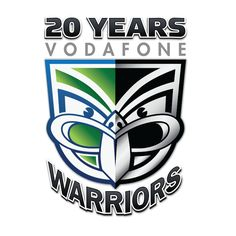 20th Year Anniversary Logo. Based on the current club design, the logo features a 50-50 color split straight down the middle. The left side is white, blue and green representing the club's first season in the ARL competition and the 20 seasons that ensued. The right half of the emblem maintains the current colour format of silver and black signifying stability and reassurance whilst also representing the club's exciting future ahead