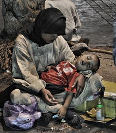 """Photograph """"Tragedy""""  by Hayder Alsahaf. Homelessness, hunger, extreme poverty."""