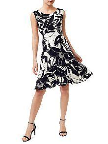 Mono Flippy Hem Dress