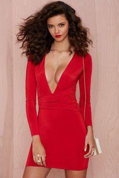 Red dress nasty gal jet