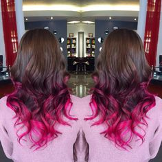 Magenta Ombre Balayage Colorbykatrusso