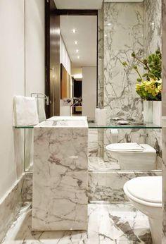 Decor Salteado - Blog de Decoração | Arquitetura | Construção | Paisagismo: 30 Lavabos pequenos e modernos - veja dicas de como ousar e decorar!