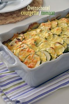 Ovenschotel courgette - Brenda Kookt Healthy Meals For Kids, Good Healthy Recipes, Healthy Eating, Love Food, A Food, Food And Drink, Oven Dishes, Food Inspiration, Food Porn