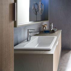 Lavarredo - Mobile sospeso con ante e lavabo in ceramica - Xilon ...