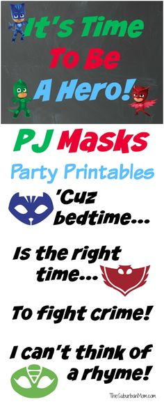 PJ Masks Printable Party Decorations