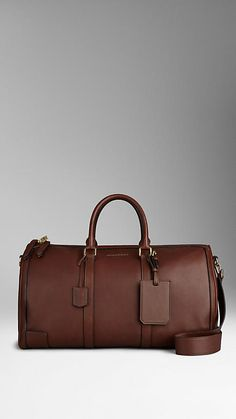 Large Sartorial Leather Bowling Bag | Burberry