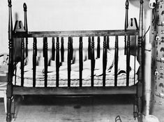 The empty crib of Charles A. Lindbergh, Jr.