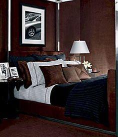 Ralph Lauren Modern Driver Stripe Charcoal King Duvet Cover by Ralph Lauren… Ux Design, House Design, Interior Design, Trendy Bedroom, Modern Bedroom, Bedroom Decor, Masculine Room, Masculine Bedding, Masculine Bedrooms