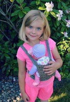 Red Heart Yarn Cordial | Design Wars Challenge | Crochet Design by Danyel Pink | Baby Carrier Crochet Pattern.