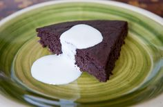 Brownie con berenjena y chocolate