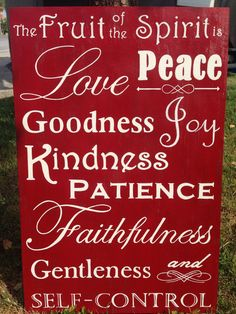 This sign was inspired by the fruit of the spirit saying and is a good reminder for us all. It is the perfect product to brighten a room or give as a gift. Each product is handmade and so each is unique and differentiates from all others. This sign is made from hand picked high quality wood, painted using Behr paints, and has sawtooth hangers for convenience. Dimensions: 24 x 15 3/4 Color Choices: All Colors are Custom (You just let me know how you want it, or I can help you pick) Return…