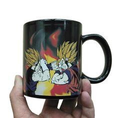 DRAGON BALL Z SUPER GOKU JIREN BATTLE HEAT CHANGING COFFEE MUG 16 OZ NEW RARE