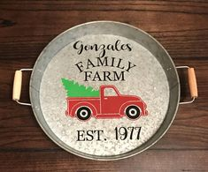 Family Christmas . Red Truck Christmas Tree . Farm House Christmas Decor . Makes Great Christmas Gift Under 25 . Little Red Truck