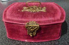 Red Velvet Jewelry Case - Brass decorations | eBay