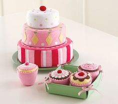 Pottery Barn Kids Cupcakes...These things are so cute and soft some of my girls Fave toys
