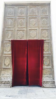 church red door textile
