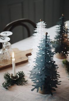 3D paper Christmas decorations from Fabulous Goose   These Four Walls blog