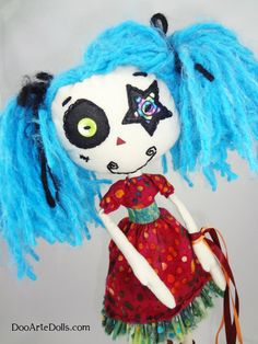 For the Noodle...because I saw her playing with Barbies today and she is too original for Barbies ARTISAN CRAFTED DoLL Azoria Stargazer Zen Zombie Original design