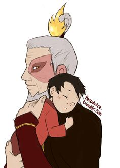 Zuko and baby Iroh. Ohmygoodness. This is more adorable than him and his daughter.