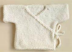 Free Knitting Pattern 70352AD Baby Kimono : Lion Brand Yarn Company