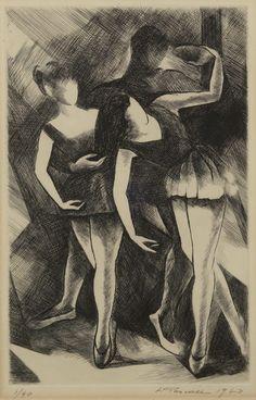 Η χαράκτρια – ζωγράφος Λέλα Πασχάλη σπούδασε στην ΑΣΚΤ (1934-1938) ζωγραφική με δάσκαλο τον Κ. Παρθένη, και σταδιοδρόμησε στο Παρίσι, (1946-1963). Στη χαρακτική μυήθηκε από το χαράκτη Τ. Notton που... Greek Art, Painting & Drawing, Dancers, Drawings, Artists, Projects, Fine Art Paintings, Log Projects, Blue Prints