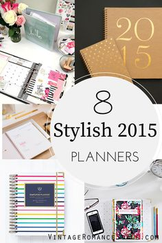 8 Stylish Planners to Organize Your 2015