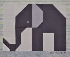 How to piece the large elephant. Sew Fresh Quilts: Elephant Parade - Week 1 - Large Elephant