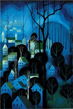 Midnight Blue (1983) - Eyvind Earle  (no wonder I immediately thought it reminded me of Sleeping beauty....