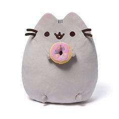 Enesco 4048871 Gund Pusheen mit Donut, Plüschtier