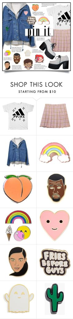 """""""~ SUPER CUTE PINS! ~"""" by yumoto-hakone ❤ liked on Polyvore featuring Chicnova Fashion, White Label, Jeffrey Campbell, Local Heroes, PINTRILL, Georgia Perry, iDecoz, ban.do, Stoney Clover Lane and Madewell"""