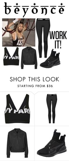 """Beyonce Ivy Park"" by younever ❤ liked on Polyvore featuring Topshop, Ivy Park and Puma"