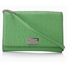 Kate Spade Pre-owned Kate Spade Orchard Valley Fiona Alligator Leather... ($193) ❤ liked on Polyvore featuring bags, handbags, shoulder bags, green, leather shoulder handbags, purse, shoulder handbags, accessories handbags and pre owned handbags