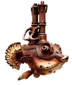 Steampunk Fish by Namazu‑Michihiro‑Matsuoka - via www.StephenHunt.net
