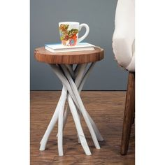 Decorative Rustic Liberte Round Side Table | Overstock.com Shopping - The Best Deals on Coffee, Sofa & End Tables