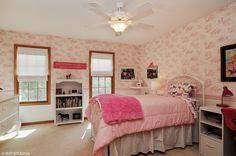 #bedroom #pink #girlsbedroom #childsbedroom #kidbedroom www.4850kingsway.tkmomteam.com #gurnee #homeforsale #providencevillage #colonial #remodeled #custom #updated