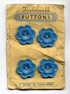 I just bought this very card of buttons @ an antique mall - for $1!!