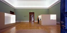 Renovation of the Alte Pinakothek in Munchen by Staab Architekten. Beautiful sharp design of the furniture elements.