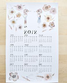 2012 illustrated calendar roundup: Oh My Cavalier via @pikaland