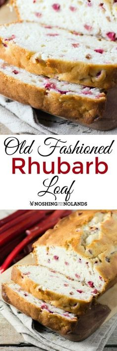 Old Fashioned Rhubarb Loaf by Noshing With The Nolands so moist and delicious! Y Old Fashioned Rhubarb Loaf by Noshing With The Nolands so moist and delicious! You can enjoy it any time of day. Source by tnoland Rhubarb Loaf, Rhubarb Desserts, Rhubarb Cake, Just Desserts, Delicious Desserts, Dessert Recipes, Yummy Food, Rhubarb Bread Recipe Sour Cream, Healthy Rhubarb Recipes