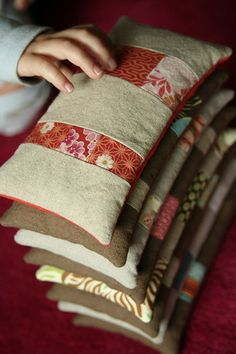 Almohadilla termica de semillas 60x12cm yoga for Sac magique maison riz