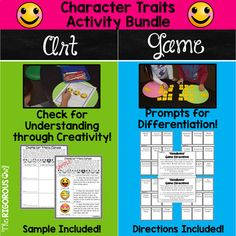 Character Traits Activity Bundle This Character Traits Activity Bundle provides a ton of exposure to Character Traits! Students will identify Character Traits, identify the Character Trait's meaning, and apply Character Traits to scenarios! You have officially found what your Language Arts block has been missing!
