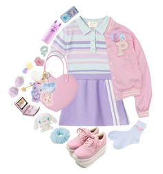 Sporty Spice by cuteghostie on Polyvore featuring Dorothy Perkins, Tony Moly, Nintendo and Hello Kitty