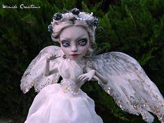 OOAK Custom Monster High Doll Repaint Reroot Weeping Angel Doctor Who