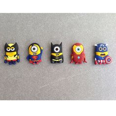 SET Minion x Marvel Super Heroes Wolverine Superman Batman Ironman Iron Man Captain America