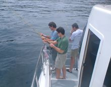 Recreational fishing party