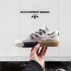 "The third drop of the @alexanderwangny x adidas Originals collection will be released on April 1st. What are your thoughts on the ""Skate"" model shown in the picture? #sneakersmag #adidasoriginals #alexanderwang"