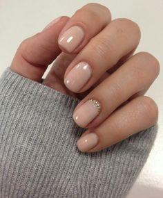 Light pink nails with ring finger detail. So sweet!